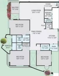 2800 sqft, 3 bhk Apartment in Ravani Fortuna Althan, Surat at Rs. 27000