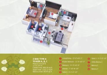 1252 sqft, 2 bhk Apartment in Raheja Vanya Sector 99A, Gurgaon at Rs. 49.7700 Lacs