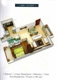 1001 sqft, 1 bhk Apartment in Builder Bella Casa Siolim, Goa at Rs. 45.0000 Lacs