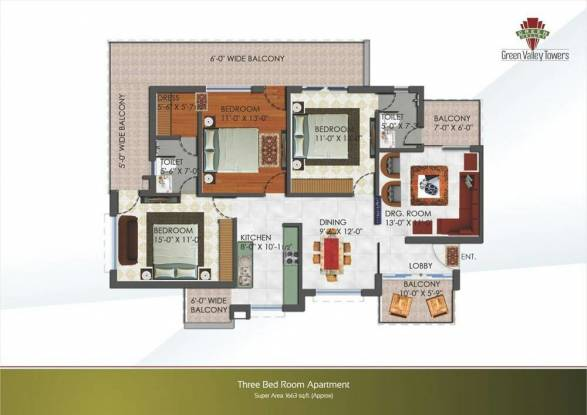 1663 sqft, 3 bhk Apartment in Builder Project Dhakoli, Chandigarh at Rs. 51.0000 Lacs