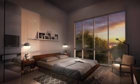 1,140 sq ft 2 BHK + 3T Apartment in Sheth Creators Beau Pride