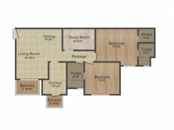 1020 sqft, 2 bhk Apartment in Emaar Emerald Estate Sector 65, Gurgaon at Rs. 24000