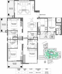 2422 sqft, 3 bhk Apartment in M3M Merlin Sector 67, Gurgaon at Rs. 45000
