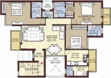 1624 sqft, 3 bhk Apartment in Unitech Woodstock Floors Sector 50, Gurgaon at Rs. 35000
