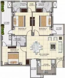 1650 sqft, 3 bhk Apartment in APS Highland Park Bhabat, Zirakpur at Rs. 21000