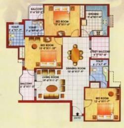 1699 sqft, 3 bhk Apartment in Jaipuria Sunrise Greens Apartment Ahinsa Khand 1, Ghaziabad at Rs. 75.0000 Lacs