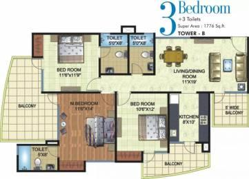 1776 sqft, 3 bhk Apartment in Angel Mercury Ahinsa Khand 2, Ghaziabad at Rs. 1.0500 Cr
