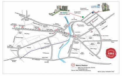 1515 sqft, 3 bhk Apartment in SCC Builders SCC Sapphire Raj Nagar Extension, Ghaziabad at Rs. 46.0000 Lacs