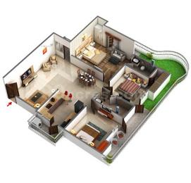 2000 sqft, 3 bhk Apartment in Gaursons Valerio Ahinsa Khand 2, Ghaziabad at Rs. 92.0000 Lacs