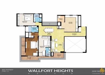 1930 sqft, 3 bhk Apartment in Builder wallfort hights Bhatagaon Road, Raipur at Rs. 61.7000 Lacs