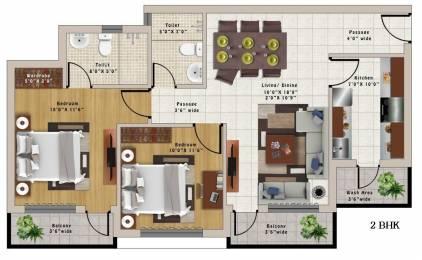 1050 sqft, 2 bhk Apartment in Builder Wallfort Elegant Amlihdih, Raipur at Rs. 33.3100 Lacs