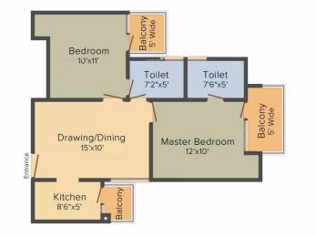 865 sqft, 2 bhk Apartment in Techman Moti City Modinagar, Ghaziabad at Rs. 21.0246 Lacs