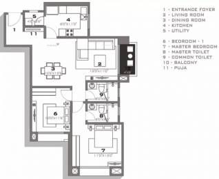 1205 sqft, 2 bhk Apartment in Hiranandani Tiana Navallur, Chennai at Rs. 26000