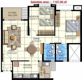 1107 sqft, 2 bhk Apartment in Embassy Residency Perumbakkam, Chennai at Rs. 58.0000 Lacs