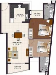 1190 sqft, 2 bhk Apartment in ETA Rosedale Padur, Chennai at Rs. 16000