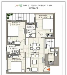 1270 sqft, 3 bhk Apartment in Builder sushma joynest zirakpur Gazipur, Chandigarh at Rs. 39.0000 Lacs