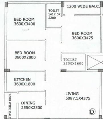 1408 sqft, 3 bhk Apartment in Star Star Green Rajarhat, Kolkata at Rs. 49.0000 Lacs