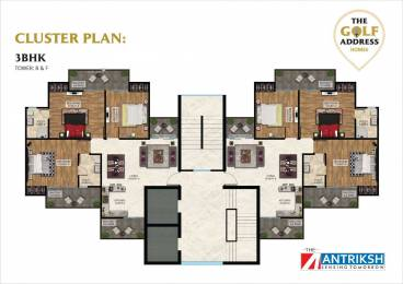 2134 sqft, 3 bhk Apartment in The Antriksh The Golf Address Sector 150, Noida at Rs. 84.0700 Lacs