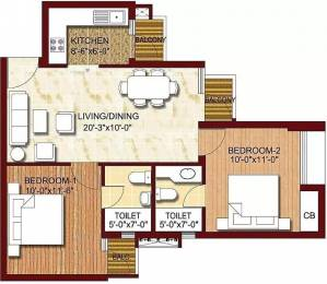 860 sqft, 2 bhk Apartment in Logix Blossom Greens Sector 143, Noida at Rs. 36.0000 Lacs