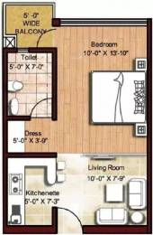 470 sqft, 1 bhk Apartment in Logix Blossom Zest Sector 143, Noida at Rs. 22.0000 Lacs