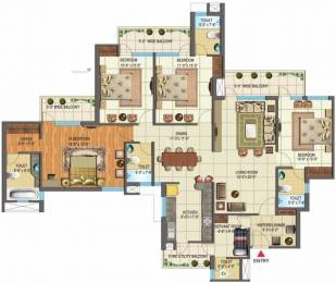 2473 sqft, 4 bhk Apartment in Nimbus The Golden Palms Sector 168, Noida at Rs. 1.2200 Cr