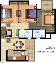 1165 sqft, 3 bhk Apartment in Paras Seasons Sector 168, Noida at Rs. 50.0000 Lacs