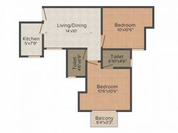 795 sqft, 2 bhk Apartment in Paras Seasons Sector 168, Noida at Rs. 35.0000 Lacs