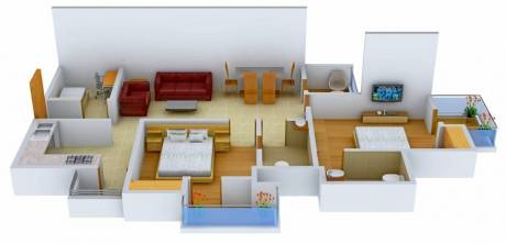 1145 sqft, 2 bhk Apartment in Logix Blossom County Sector 137, Noida at Rs. 15500