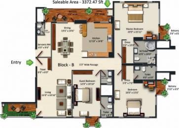 3372 sqft, 3 bhk Apartment in HM Grandeur Frazer Town, Bangalore at Rs. 2.5000 Lacs