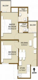 755 sqft, 2 bhk Apartment in Panchsheel Hynish Sector 1 Noida Extension, Greater Noida at Rs. 26.5000 Lacs