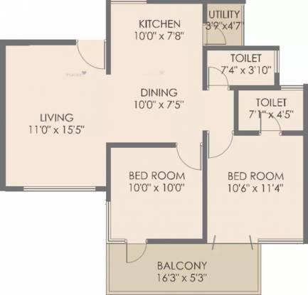 968 sqft, 2 bhk Apartment in Rohan Mithila Viman Nagar, Pune at Rs. 1.0500 Cr