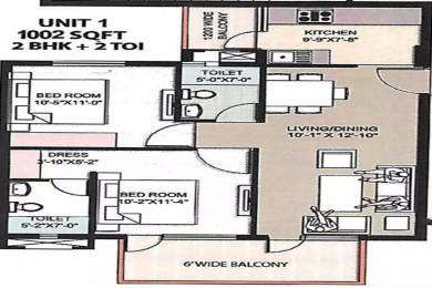 1002 sqft, 2 bhk Apartment in Omaxe The Resort Mullanpur, Mohali at Rs. 30.7654 Lacs