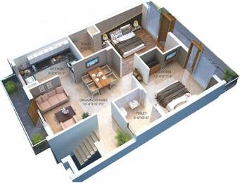 1001 sqft, 2 bhk BuilderFloor in Builder GBP Camellia Bhago Majra, Mohali at Rs. 23.4588 Lacs