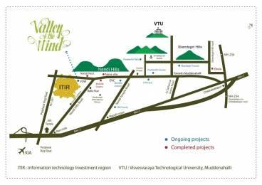 1200 sqft, Plot in Builder DIVYASREE VALLEY OF THE WINDNANDI HILLS Nandi Hills, Bangalore at Rs. 36.4045 Lacs