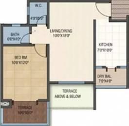 710 sqft, 1 bhk Apartment in Sheth Beverly Hills Hinjewadi, Pune at Rs. 15500