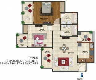 1048 sqft, 2 bhk Apartment in Amaatra Homes Sector 10 Noida Extension, Greater Noida at Rs. 29.8600 Lacs