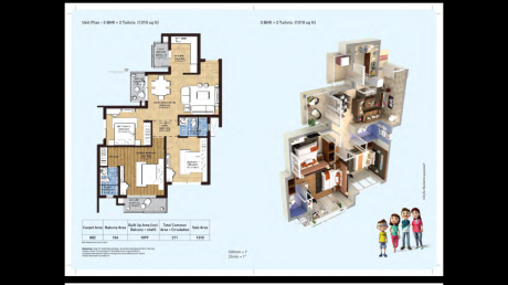 1310 sqft, 3 bhk Apartment in Builder HERO HOMES Sidhwan Canal Road, Ludhiana at Rs. 55.7200 Lacs