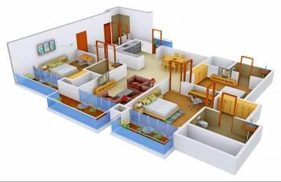 2250 sqft, 3 bhk Apartment in Omaxe Royal Residency Dad Village, Ludhiana at Rs. 96.7150 Lacs