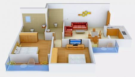 820 sqft, 2 bhk Apartment in Omaxe Panache Homes Galaxy Dad Village, Ludhiana at Rs. 45.0000 Lacs