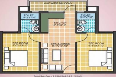 924 sqft, 2 bhk Apartment in Omaxe Europia Sector 36 Bhiwadi, Bhiwadi at Rs. 18.0000 Lacs