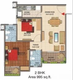 995 sqft, 2 bhk Apartment in Terra Greens Sector 16 Bhiwadi, Bhiwadi at Rs. 26.0000 Lacs