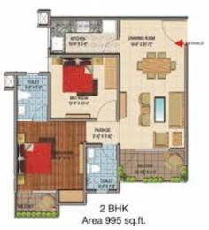 995 sqft, 2 bhk Apartment in Terra Greens Sector 16 Bhiwadi, Bhiwadi at Rs. 24.5000 Lacs