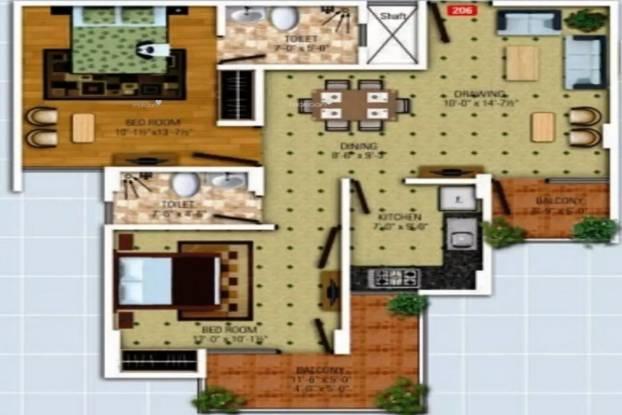 1110 sqft, 2 bhk Apartment in SDC The Destination Gandhi Path West, Jaipur at Rs. 28.3050 Lacs