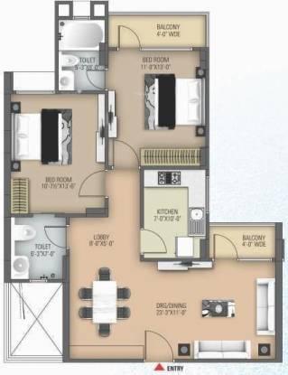 1201 sqft, 2 bhk Apartment in Anukampa Platina Sanganer, Jaipur at Rs. 40.5100 Lacs