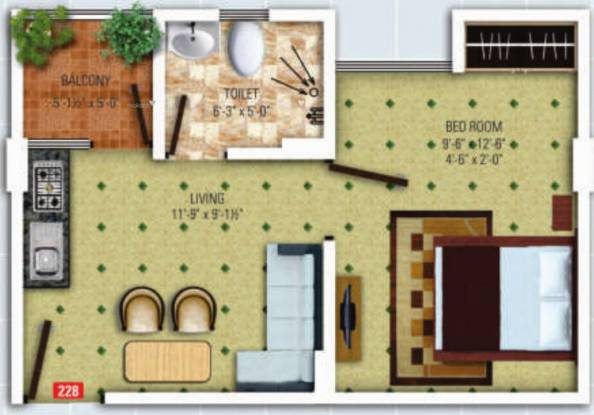 430 sqft, 1 bhk Apartment in SDC The Destination Lalarpura, Jaipur at Rs. 11.4853 Lacs