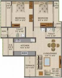 1075 sqft, 2 bhk Apartment in Kamdhenu Lifespaces Aura Taloja, Mumbai at Rs. 64.0000 Lacs