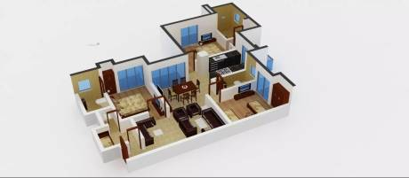 1850 sqft, 3 bhk Apartment in Amrapali Sapphire Sector 45, Noida at Rs. 25000