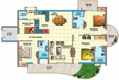 1695 sqft, 3 bhk Apartment in SDS NRI Residency Sector 45, Noida at Rs. 1.1000 Cr
