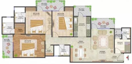 1845 sqft, 3 bhk Apartment in Prateek Stylome Sector 45, Noida at Rs. 30000