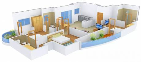 1900 sqft, 3 bhk Apartment in Dasnac The Jewel of Noida Sector 75, Noida at Rs. 1.2400 Cr